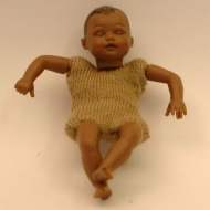 Heidi Ott Dolls House Doll, Brown Baby Sleeping (XKB08)