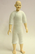Heidi Ott Dolls House Doll, Undressed Old Lady with no Hair (XKF07)