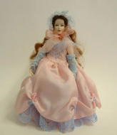 Heidi Ott Dolls House Doll, Lady Wearing a Pink Dress (X034)