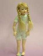 Heidi Ott Dolls House Doll, Young Girl with Blonde Plaits (XKK01)