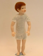 Heidi Ott Dolls House Doll, Young Boy with Brown Short Hair (XKK04)
