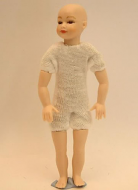 Heidi Ott Dolls House Doll, Young Boy with Brown Eyes (XKK06)