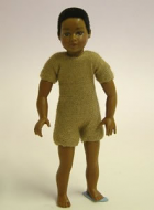 Heidi Ott Dolls House Doll, Brown Child With Short Hair (XKK07)