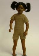 Heidi Ott Dolls House Doll, Brown Girl With Pigtails (XKK08)