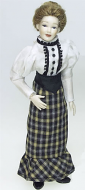Heidi Ott Dolls House Doll, Lady with Skirt & Blouse (X039)