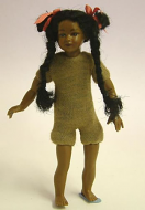 Heidi Ott Dolls House Doll, Brown Girl With Long Platts (XKK09)