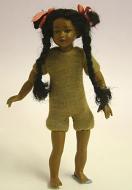 Heidi Ott Dolls House Doll, Brown Girl With Long Platts (XKK09)