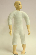 Heidi Ott Dolls House Doll, Old Man with No Hair (XKM07)