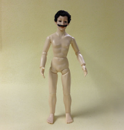 Heidi Ott Male Nude Man with Dark Hair and a Moustache (XKM12)