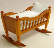 Cherry Babies Cradle, Dolls House Miniature (XY101C)