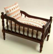 Mahogany Babies Cot, Dolls House Miniature (XY102M)