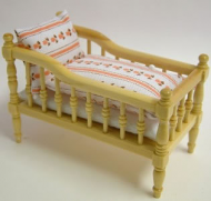 Pine Babies Cot, Dolls House Miniature (XY102P)