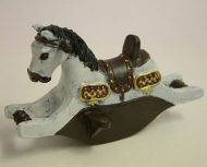 Children's Rocking Horse, Dolls House Miniature (XY109)