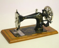 Dolls House Miniature Cherry Table Sewing Machine (XY200C)