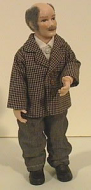 Heidi Ott Dolls House Doll, Man Check Jacket- Bald (X044)