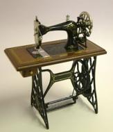 Dolls House Miniature Walnut Treadle Sewing Machine (XY201W)