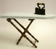 Dolls House Miniature Walnut Ironing Board (XY204W)