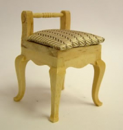 Dolls House Miniature Pine Small Chair (XY207P)