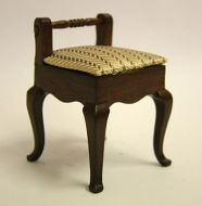 Dolls House Miniature Walnut Chair (XY207W)