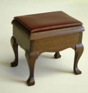 Dolls House Miniature Mahogany Storage Seat (XY209W)