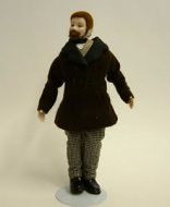 Heidi Ott Dolls House Doll, Man with a Beard (X047)