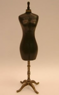 Dolls House Miniature Mannequin in Black (XY214)