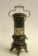 Dolls House Miniature Black and Gold Gas Stove (XY303)