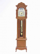 Cherry Working Grandfather Clock, Dolls House Miniature (XY400C)