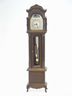 Walnut Working Grandfather Clock, Dolls House Miniature (XY400W)