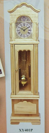 Working Grandfather Clock- Pine, Dolls House Miniature (XY401P)