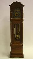 Working Grandfather Clock- Walnut, Dolls House Miniature (XY401W)
