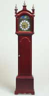 Mahogany Grandfather Clock, Dolls House Miniature (XY407M)