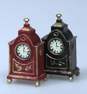 Set of 2 Gilt Clocks, Dolls House Miniatures (XY411)