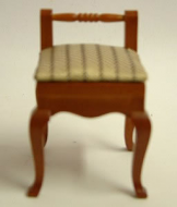 Dolls House Miniature Walnut Chair (XY501W)