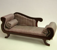 Dolls House Miniature Mahogany Chaise Longue (XY503M)