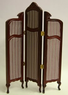 Dolls House Miniature Mahogany Dressing Screen (XY505M)