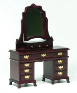 Dolls House Miniature Mahogany Dressing Table (XY552M)
