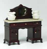 Dolls House Miniature Mahogany Washstand (XY553M)