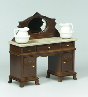 Dolls House Miniature Walnut Washstand (XY553W)