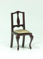 Dolls House Miniature Mahogany Chair (XY555M)