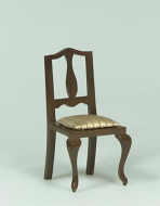Dolls House Miniature Walnut Chair (XY555W)