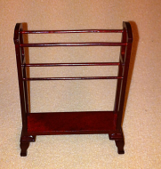 Dolls House Miniature Mahogany Towel Stand (XY556M)