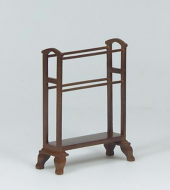 Dolls House Miniature Walnut Towel Rail (XY556W)