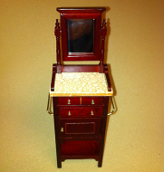 Dolls House Miniature Mahogany Shaving Table (XY560M)