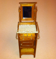 Dolls House Miniature Walnut Shaving Table (XY560W)