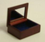 Dolls House Miniature Mahogany Jewellery Box (XY601M)