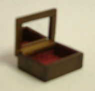 Dolls House Miniature Walnut Jewellery Box (XY601W)