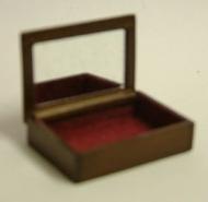 Dolls House Miniature Walnut Jewellery Box (XY602W)