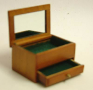 Dolls House Miniature Cherry Jewellery Box (XY603C)