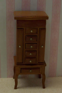 Dolls House Miniature Cherry Jewellery Cabinet (XY605C)